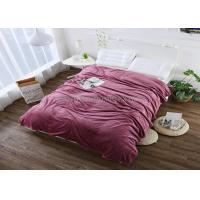 China Super Soft Colored Solid Flannel Blanket For Bed Sheets Jacquard Honeycomb Style on sale