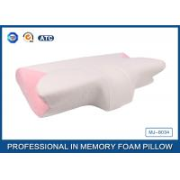 Pink Curved Memory Foam Pillow with air hold Comfort head , face , neck , and hands for kids Manufactures