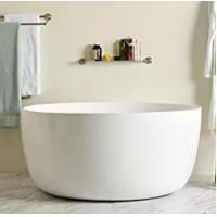 High End Small White Round Freestanding Bathtub With Overflow Manufactures