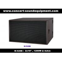 "Nightclub Sound Equipment / 2x18"" Direct Reflex 4ohm 1200W Subwoofer For Concert , Disco Living Event  And Show Manufactures"