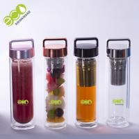 450ML 16OZ Unbreakable Glass Water Bottle Silk Printing Logo Manufactures