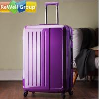 China Purple Password Suitcase Business Travel Luggage with Luminum Frame on sale