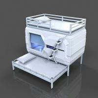 Nice Modern Space Capsule Bed , Podtime Sleeping Pod Triple Egg Pod Bed Manufactures