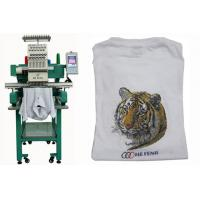 Single Head 12 Needles Embroidery Machine For Baseball / T-shirt , Servo Motor Manufactures