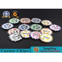 ABS Casino RFID chips 12g Clay Poker Chips With Ultimate Sticker , 40mm Diameter for sale