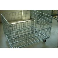 China Wire Mesh Container with Removable Wheel on sale