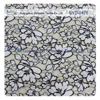 Normal Dyeing Two Tone Cotton Nylon Lace Fabric Flower Fabric For Women Garment Manufactures