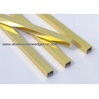 Anodized Shiny Gold Aluminum U Shaped Tile Brace / Splint / Channel U10 Manufactures