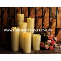 Living room Ivory Wax Electric Votive Candles / White Flameless LED Dripping Candles Manufactures