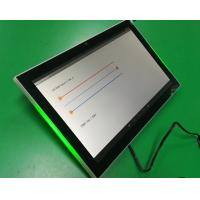 Quality Meeting room booking POE/DC powered Android 7'' tablets with 3-colors LED indicator bar for sale