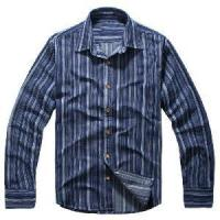 Classical Blue Vertical Stripes Cotton Shirts (LC-666) Manufactures