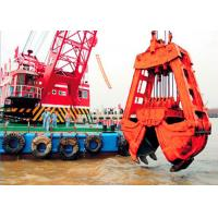 10m3 Clamshell River Sand Dredger Machine With Electromagnetic Brake Manufactures