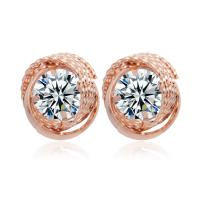 Top Design Crystal Jewelry Fashion Stainless Steel Earrings Manufactures