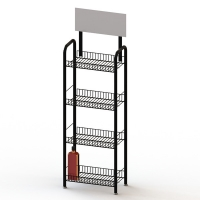 4 Layers Metal Wire Liquor Bottle Display Rack Manufactures