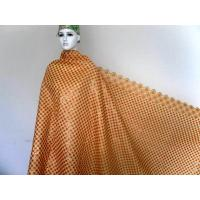 Yellow Africa Organza Lace Fabric , Wedding Dress Lace Fabric Manufactures