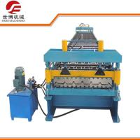 Colored Steel Trapezoidal Sheet Roll Forming Machine Fully Automatically Manufactures
