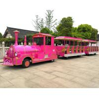 Buy cheap Amusement Park Rides / 60 Passengers Gasoline Tourist Tightseeing Road Trackless Train from wholesalers