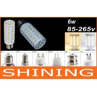 6W 650Lm LED Corn Light Bulb Non Glare , 220V 44 pcs SMD 5050 LED Manufactures