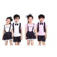 Summer Lapel School Uniform Embroidery Quick Dry For Primary School Students Manufactures