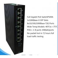 Buy cheap 9 ethernet ports full Gigabit PoE networking Switch for IP camera P509A from wholesalers