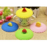 China Food Grade Silicone Fresh Cover / Silicone Cup Cover Round Shape Diameter 10.5cm on sale