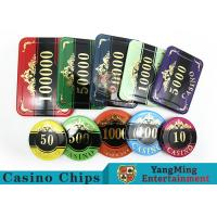 Customizable Casino Texas Holdem Poker Chip Set With UV Mark Manufactures
