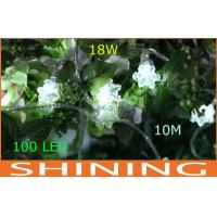 Green Waterproof RGB LED String Lights Snowflake Shape For Window Decoration Manufactures
