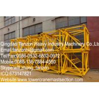 Hoisting Standard Tower Crane Sections For flat head tower crane Manufactures