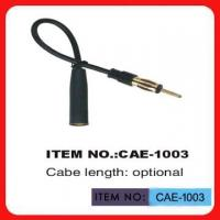 Black Car Antenna Extension Cable 12 Inch Length For Automobile Antenna Manufactures