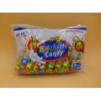Fruit Flavors Brochette Sugar Free Peppermint Candy / Round Shape Compressed Candy Manufactures