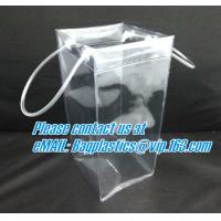 China PVC cosmetic clear gift bag bag plastic bag in large size with handle, Superior quality pvc tote bag,pvc plastic bag,pvc on sale