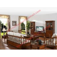 Solid Wooden Carving Frame with Fabric Upholstery Sofa Set in Living Room Set Manufactures