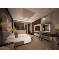 Customized Luxury Hotel Bedroom Furniture / 5 Star Hotel Bed ISO9001 ISO14001 Manufactures