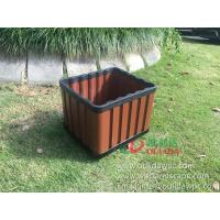 WPC outdoor flowerpot OLDA-7013 rectangle planter 415x365x340mm Manufactures