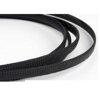 China Flexible Electrical Braided Sleeving , PET Braided Sleeving With Flame Resistant Material on sale