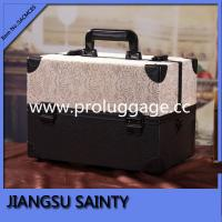 China Beige lace surface makeup storage box professional makeup cases for uk on sale