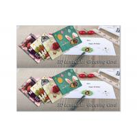 Eco - Friendly Lenticular Printing Services Holiday 3D Lenticular Greeting Card Cartoon Manufactures