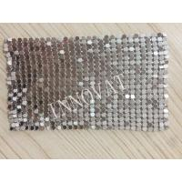 Buy cheap aluminum flat diamond rings colorful and various rustproof metal mesh curtain from wholesalers