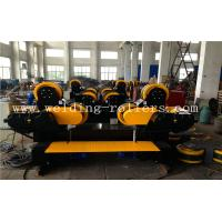 Travelling Self Aligning Pipe Welding Rotator , Rubber Combine Steel Wheel Load Capacity 30T Manufactures