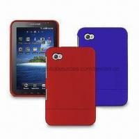 Hard Rubber Coating Cases for Samsung P1000/Galaxy Tab, Two Pieces Snap Together Manufactures