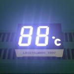 2 Digit 7 Segment LED Display Ultra Bright White LED Color 120-140mcd Luminous Intensity Manufactures