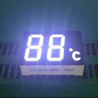 Buy cheap 2 Digit 7 Segment LED Display Ultra Bright White LED Color 120-140mcd Luminous Intensity from wholesalers