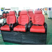 Red Color Luxury Seats 5D Movie Theater For Mobile Truck / Museum / Park Manufactures