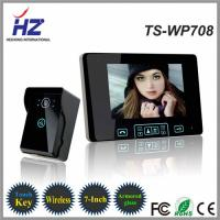adjustable 16 chord melodies and melody volume 7 inch Digital TFT color door video phone Manufactures