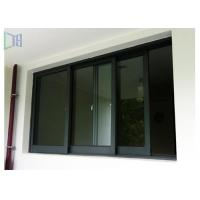 Black Color Aluminium Sliding Windows Powder Coating Corrosion Resistant Manufactures