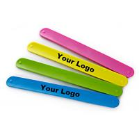 Fashion Design Silicone Slap Bracelets , Slap Wrist Bracelet Easy To Clean Manufactures