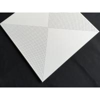 Aluminum / Galvanized Steel 3.0mm Perforated Metal Ceiling With Beveled Edge Manufactures