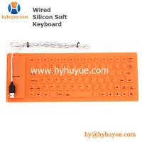 China 83 Keys Mini Wired Silicon Keyboard Flexible Waterproof for Tablet/ PC/ Laptop/ Smartphone on sale