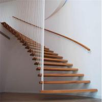 Prefabricated house used wood space saver stairs floating staircase Manufactures