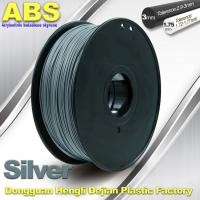 High strength ABS 3d Printer Filament 1.75mm Silver Filament Materials Manufactures